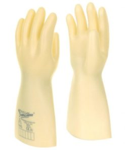 ELECTRICIANS WHITE GAUNTLET GLOVES