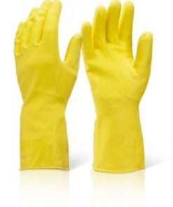 HOUSEHOLD HEAVYWEIGHT YELLOW GLOVES (PACK OF 10)