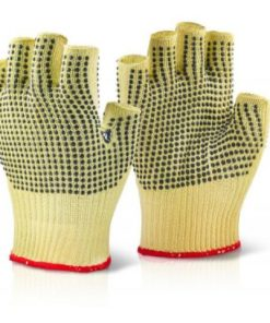 KEVLAR FINGERLESS DOTTED GLOVES