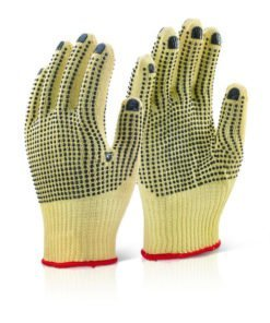 KEVLAR MEDIUMWEIGHT DOTTED GLOVES PACK OF 10