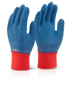 LATEX FULLY COATED GRIPPER GLOVES BLUE
