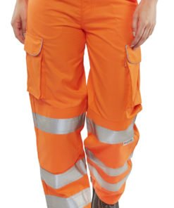 ladies hi vis trousers orange