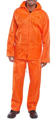 LIGHTWEIGHT NYLON SUIT WITH PVC COATING