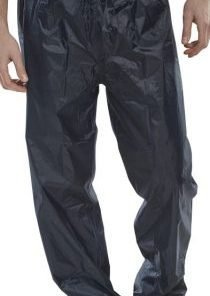 LIGHTWEIGHT NYLON TROUSERS PVC COATED