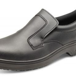 MICRO-FIBRE SLIP ON SHOE BLACK