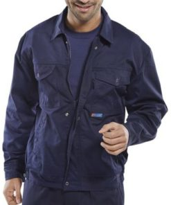 DRIVERS JACKET POLYCOTTON NAVY