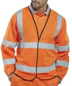 HI VIS JERKIN LONG SLEEVE ORANGE
