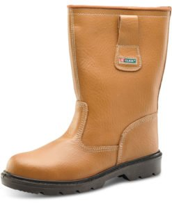 RIGGER BOOTS UNLINED STEEL TOE CAP TAN