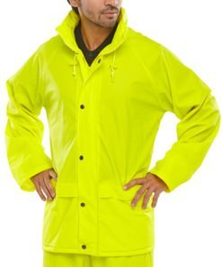 POLYESTER YELLOW JACKET WITH PU COATING