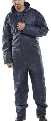 PADDED COVERALL WITH PU COATING - NAVY