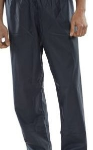 POLYESTER OVER TROUSERS WITH PU COATING