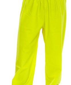 POLYESTER YELLOW TROUSERS WITH PU COATING