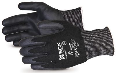 EMERALD BLACK NITRILE PALM GLOVES