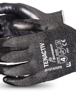 TENACTIV 18Ga FOAM/NITRILE GLOVES - BLACK