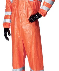 HIVIS ORANGE COVERALL WITH COLLAR