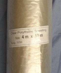 Clear Polythene Sheeting 4m X 50m