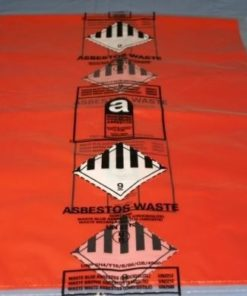 Economy Large Red Printed Asbestos Waste Sacks Size 34.5 in X 45 in (Box of 50)