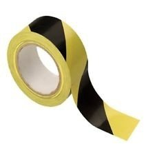 Black and Yellow PVC Hazard Warning Tape