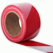 Red and White Non Adhesive Barrier Tape