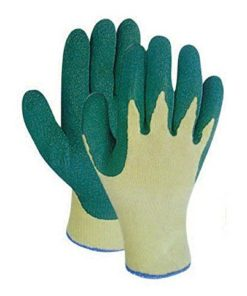 green and yellow palm coated grip gloves size 9 (pack of 10)
