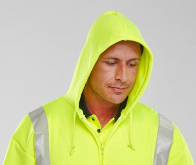 HOODED HIVIS FULLY ZIPPED SWEATSHIRT - HOOD