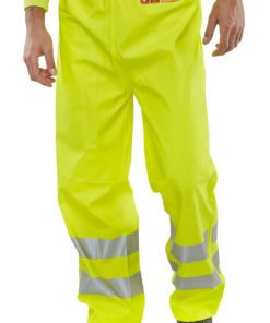 yellow flame retardant overtrousers