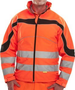 ORANGE HI VIS SOFTSHELL JACKET