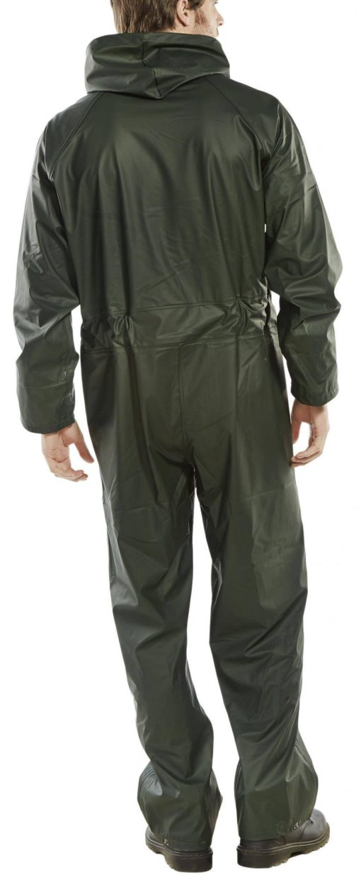 PU COATED POLYESTER COVERALL WITH HOOD - REVERSE