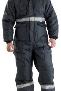 FREEZER COVERALL WITH HOOD NAVY