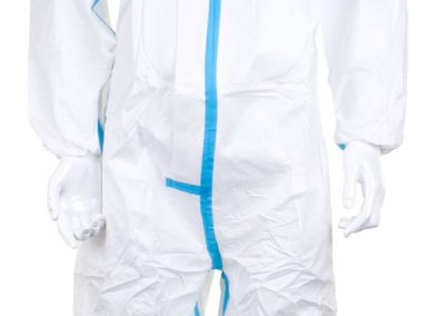 MICROPOROUS TYPE 4/5/6 DISPOSABLE COVERALL (BOX OF 20) - FRONT DETAIL