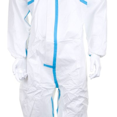 MICROPOROUS TYPE 4/5/6 DISPOSABLE COVERALL (BOX OF 20) - CLOSE UP VIEW