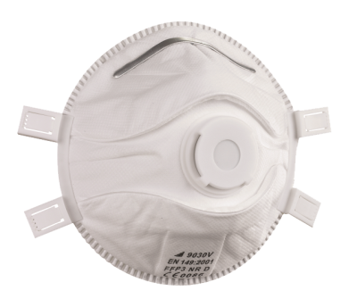 respiratory protection information - WHITE FFP3 VALVED DISPOSABLE MASKS (PACK OF 5)