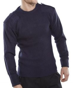 MILITARY STYLE SWEATER - NAVY