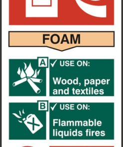 FIRE EXTINGUISHER SAFETY SIGN FOAM SELF ADHESIVE