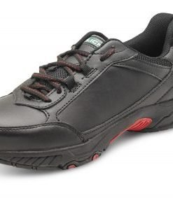 TRAINER SHOE STEEL TOE CAP BLACK