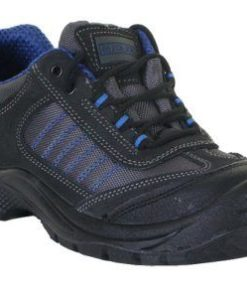 DUAL DENSITY TRAINER SHOES BLACK AND BLUE PU